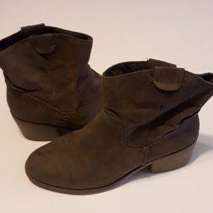 Merona brown suede ankle boots